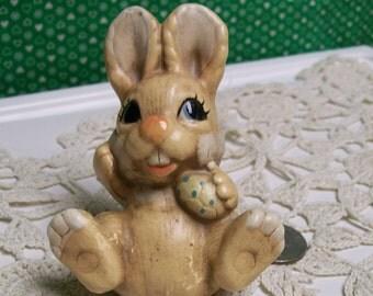 Bunny Rabbit Figurine Vintage Hand Made in Korea