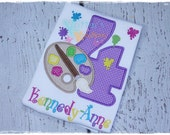 Custom Personalized Paint Palette Birthday - Embroidered Appliqued Shirt