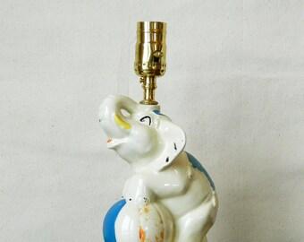 Vintage Circus Elephant Lamp