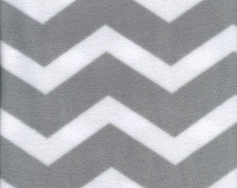 Fitted Sheets Gray and White Chevron Fleece Sheets for Baby Handmade Fits Cribs & Toddler Beds