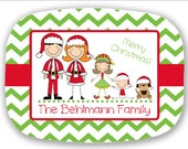 Personalized Christmas Family Platters