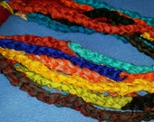 Recycled Sari Silk Infinity Scarf Necklace brights