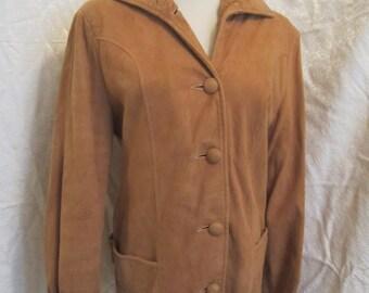 Vintage 1950s Suede Jacket Rockabilly Western size Large