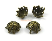 20Pcs Antique Brass Bead Base Setting Charm Pendant 15x10mm (HT18)