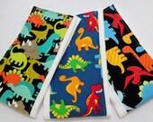 Burp Cloths set of 3 Dinosaur prints/Free Shipping/ Ready to ship!