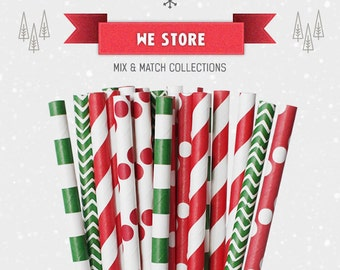 25 PAPER STRAW with free printable DIY Toppers - A Wool Christmas