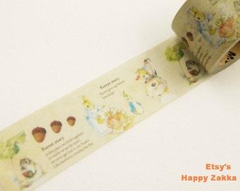 Japanese Washi Masking Tape - Rabbit Family - 30mm Wide - 11 Yards