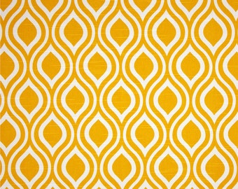 1 Yard Corn Yellow Nicole - Premier Prints Fabric Yardage - Fabric by the Yard Yellow Ornament Tear Drop