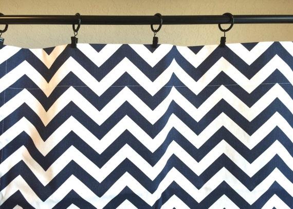 navy blue chevron curtain panels all sizes zig zag drapes window