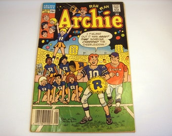 Vintage Archie Comic Book / January 1988 / No. 363 / Collectible / Paper Crafts / Mixed Media