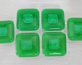 Dichroic Fused Glass Knob Cabinet Knobs Pulls Home Decor Green Colorful Kitchen Bathroom Office Dresser Drawer Knobs Closet Furniture