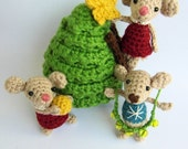 crochet PATTERN - Christmas Mice - instant download - PDF instructions