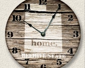 UTAH Home State Wall CLOCK  - Barn Boards pattern  - Beehive State - rustic cabin country wall home decor