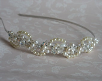 Wedding hair piece. Bridal headpiece