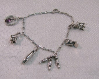 """Silver Plated Mothers Charm 7"""" Bracelet"""