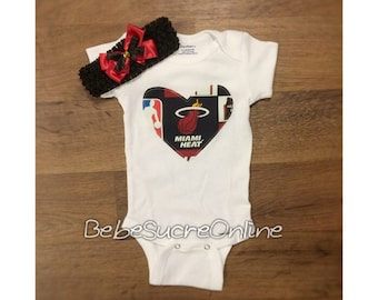 Miami Heat Bodysuit AND Headband