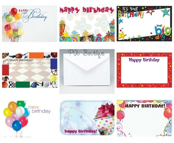 Ct happy birthday assortment florist blank enclosure cards