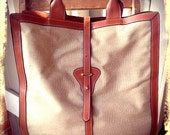 UPPER CLASS     ///     Large Canvas Leather Tote