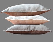 Rough Cushion Cover 100% Linen Natural Undyed colors Pillow Case Decorative Pillow Rustic style - Custom Size