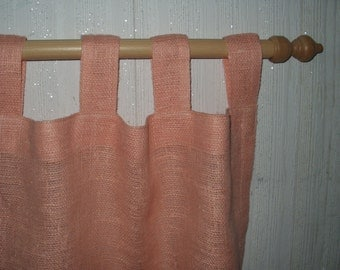 Burlap Curtains 100% Linen flax - Set of 2 Panels - Tab Top / Rod Pocket / Clip Rings - Pick Your Burlap Color