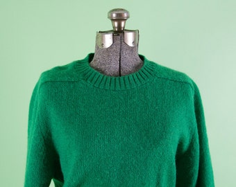 1970s Jantzen Green Wool Sweater