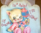 Adorable Vintage Baby Wall Hanging