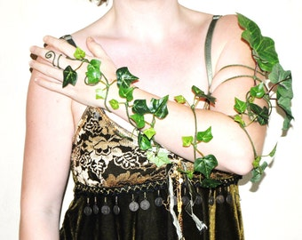 Poison ivy arm cuff arm wrap woodland forest fairy slave bracelet tree people costume