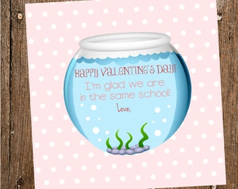 Swedish Fish Valentine Tag- Digital INSTANT DOWNLOAD