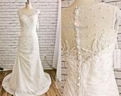 Mermaid Wedding Dress, Wedding Dress, Bridal Dress, Wedding Dress, Satin Dress, Taffeta Long Dress, Applique Wedding Dress