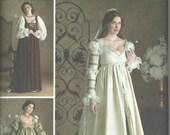UNCUT Simplicity 3812 Misses' Renaissance Costume Pattern Sizes 10-12-14