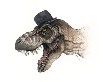 T-Rex | Watercolor | Archival Print