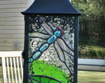 Custom Made Stained Glass Lantern