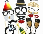 Photo Booth Props - 18 Piece Photo Props set - Wedding Photobooth Props