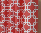 Curtain Panels 24W or 50W x 63, 84, 90, 96 or 108L in Premier Prints Coral Gotcha