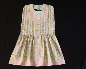 Pretty Pink & Blue Posies - Empire Waist Dress Style Adult Bib