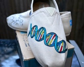 Hand Painted Custom Toms, Science, Chemistry