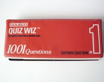 Vintage Coleco Quiz Wiz 1001 Questions Electronic Game