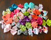 Hair Bow GRAB BAG - Hairbows- DESTASH Grab Bag - Assorted Colors - Random Surprise