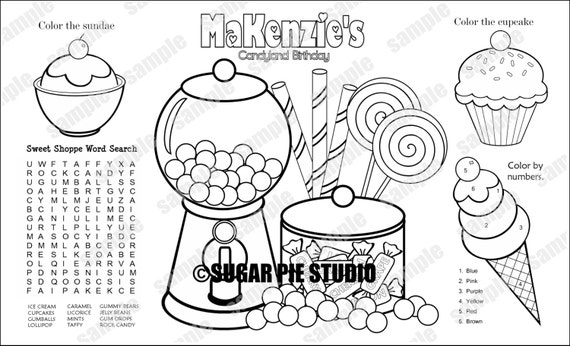 custom candyland coloring pages - photo#15