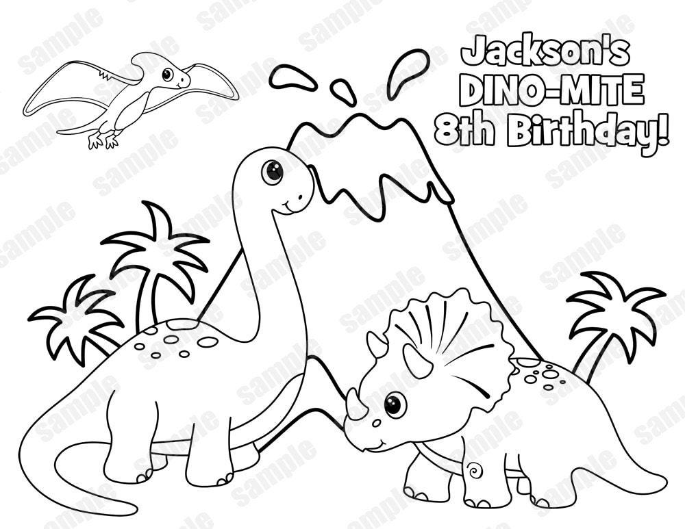 Personalized Printable Dinosaur Dino Mite T Rex Birthday