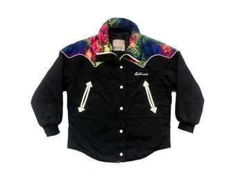 Wild West 90s Neon Cowboy Rodeo Style Ski Jacket - M