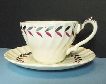 Myott Olde Chelsea Regency handpainted tea cup and saucer