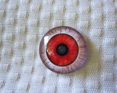 Zombie eyes 25mm glass cabochons