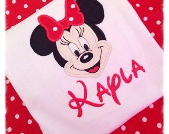 Minnie Mouse Face Applique Shirt