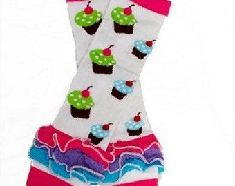 Sale Baby girl  Legwarmers  ruffle- Girls Leg Warmers ) Perfect for crawling baby
