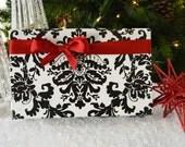 SALE - 10 Feet Black Flourish Wrapping Paper