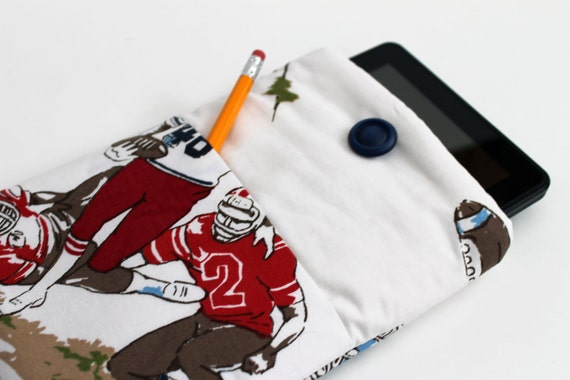 SALE Football Upcycled iPad Mini & Kindle Cover