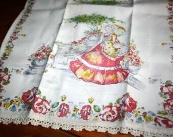 Vintage Victorian Garden Dish Towel