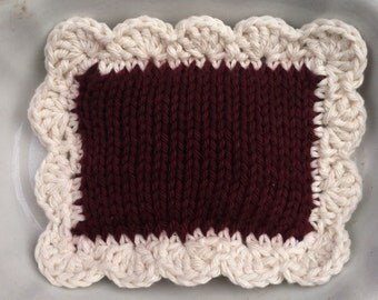 Knitted Scrubbie / Knitted Dishcloth / Knit Pot Scrubber / Dish Scrubbie / Dishcloth / Sponge / Nylon Scrubbie / Scrubber