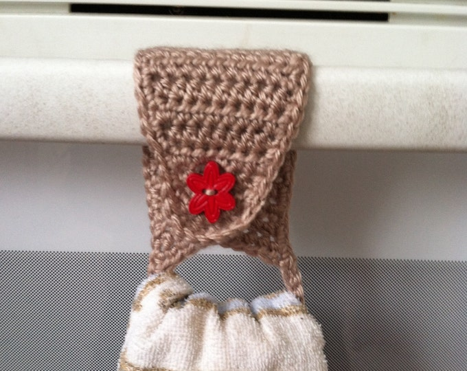 Towel Holder / Towel Topper / Towel Ring / Kitchen Towel Holder / Crochet Towel Holder